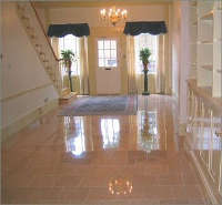 polished granite flooring