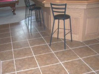 kitchen white grout