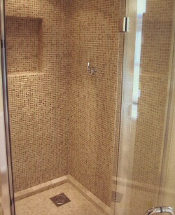 mosaic tile shower