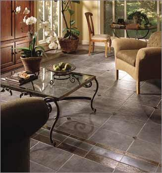 stone look ceramic tile floor
