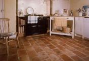 terracotta tile kitchen floor